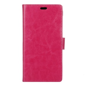 Crazy Horse Leather Stand Cover with Card Slots for Vodafone Smart prime 7 - Rose