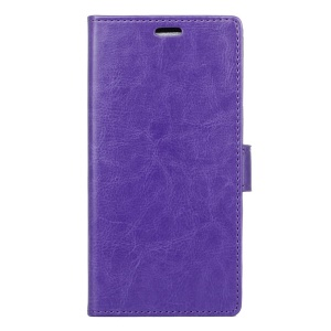 Crazy Horse Wallet Leather Stand Case for Vodafone Smart prime 7 - Purple