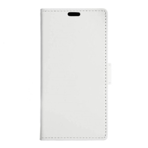 Magnetic Wallet Leather Stand Cover for Vodafone Smart ultra 7 - White