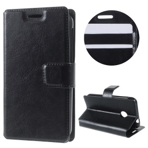 Crazy Horse Stand Leather Case for Vodafone Smart first 7 - Black