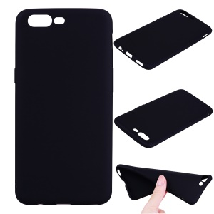Anti-fingerprint Frosted TPU Phone Case for OnePlus 5 - Black