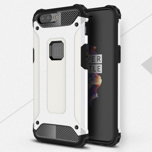 Armor Guard Plastic + TPU Combo Phone Shell Case for OnePlus 5 - White