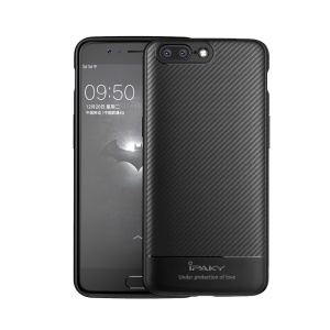 IPAKY Carbon Fiber Texture Flexible TPU Phone Shell for iPhone 6s / 6 4.7 inch - Black