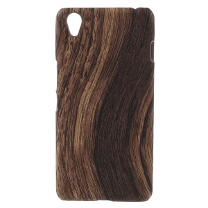 Wood Grain Leather Coated Hard Plastic Case for OnePlus X