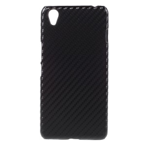 Carbon Fibre Leather Coated Hard PC Case for OnePlus X - Black