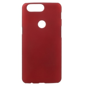 Rubberized Hard Plastic Protective Back Case for OnePlus 5T - Red