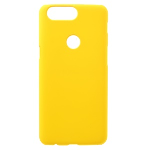 Rubberized Hard PC Mobile Phone Case for OnePlus 5T - Yellow