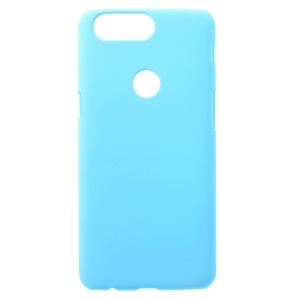 Rubberized Hard Plastic Back Case Cover for OnePlus 5T - Baby Blue