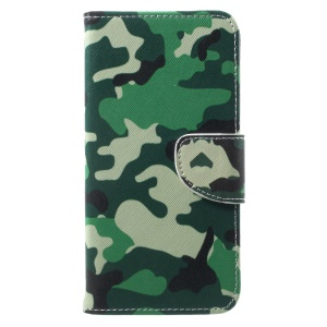 Pattern Printing Wallet Stand Leather Case for OnePlus 5T - Camouflage