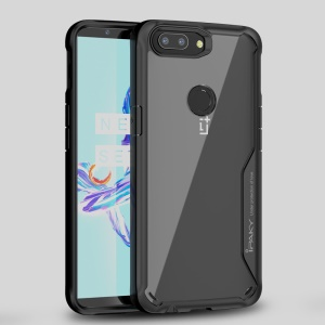 IPAKY Anti-drop PC + TPU Hybrid Case for OnePlus 5T - Black