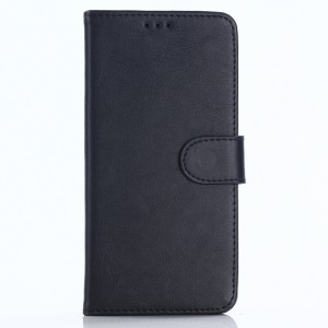 Retro Style Leather Wallet Case for OnePlus 5T - Black