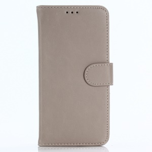 Retro Style Leather Wallet Shell Case for OnePlus 5T - Grey