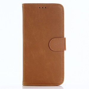 Retro Style Wallet Leather Stand Cover for OnePlus 5T - Brown