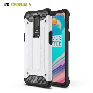 Armor Guard Plastic + TPU Hybrid Shell Case for OnePlus 6 - White