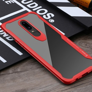 IPAKY Anti-drop PC + TPU Hybrid Mobile Cover for OnePlus 6 - Red