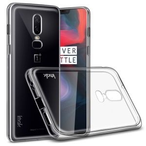 IMAK for OnePlus 6 Stealth Clear TPU Case Phone Cover + Screen Protector Film