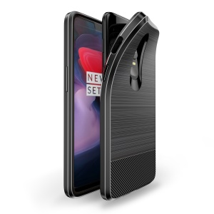 DUX DUCIS MOJO Series Carbon Fiber Brushed TPU Case for OnePlus 6 - Black