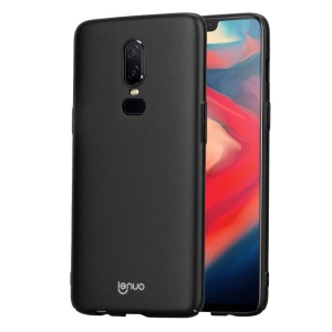 LENUO Leshield Series for OnePlus 6 Silky Touch Light Thin PC Mobile Phone Shell - Black