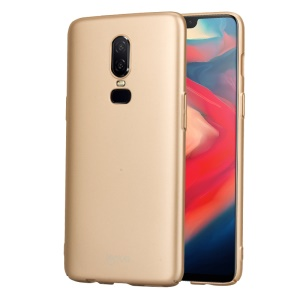 LENUO Leshield Series for OnePlus 6 Silky Touch Light Thin PC Mobile Phone Case - Gold
