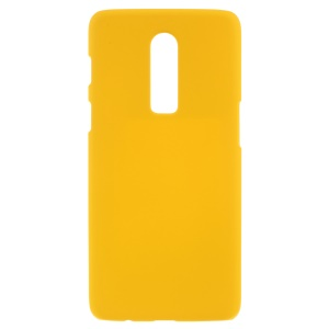 For OnePlus 6 Rubberized Hard Plastic Mobile Shell Case - Yellow