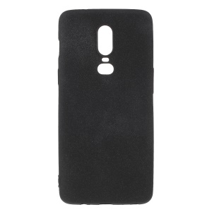 For OnePlus 6 Double-sided Matte TPU Back Cover - Black