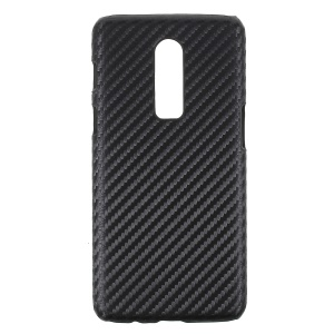 Carbon Fibre Leather Coated Hard Back Case for OnePlus 6