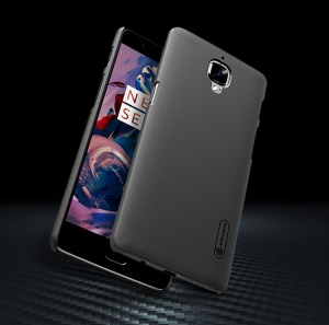 NILLKIN Super Frosted Shield Hard PC Case for OnePlus 3T / 3 with Screen Protector - Black