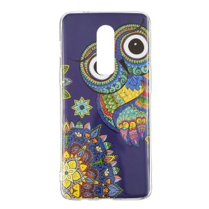 Noctilucent IMD TPU Protection Case for OnePlus 6 - Owl Pattern