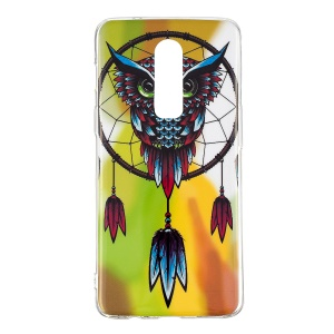 Noctilucent IMD TPU Flexible Case for OnePlus 6 - Owl Dream Catcher