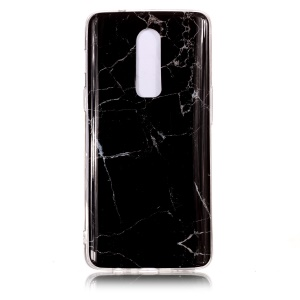Pattern Printing Marble IMD TPU Phone Case for OnePlus 6 - Black