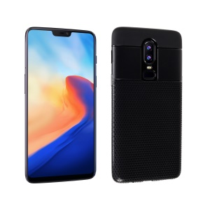 Triangle Pattern TPU Protection Case for OnePlus 6 - Black