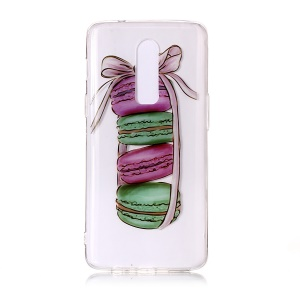 Pattern Printing IMD Soft TPU Back Cover for OnePlus 6 - Macarons