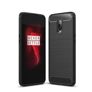 Carbon Fibre Brushed TPU Case for OnePlus 6T - Black