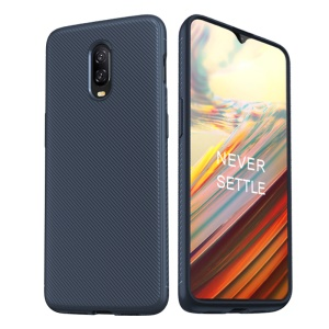LENUO LeShen Series Twill Texture TPU Phone Shell for OnePlus 6T - Dark Blue