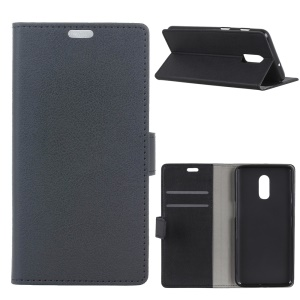 Wallet Leather Stand Case for OnePlus 6T - Black