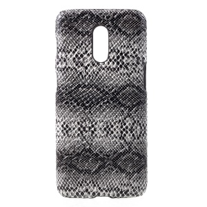 PU Leather Coated Hard PC Back Protection Cover for OnePlus 6T - Snake Skin