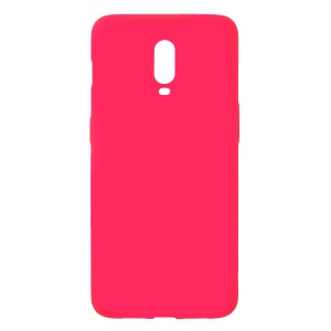 Skin-touch Matte TPU Jelly Phone Accessory Casing for OnePlus 6T - Red