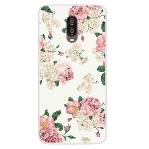 Pattern Printing TPU Case for OnePlus 6T - Blooming Flowers