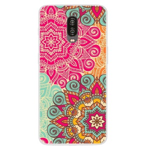 Pattern Printing TPU Phone Case for OnePlus 6T - Beautiful Flowers