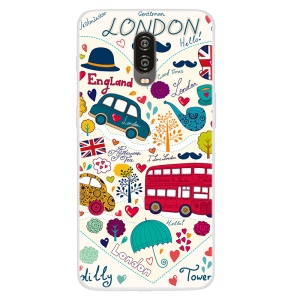 Pattern Printing TPU Mobile Phone Case for OnePlus 6T - London Elements