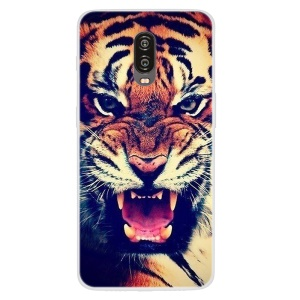 Pattern Printing TPU Flexible Case for OnePlus 6T - Tiger