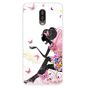 Pattern Printing TPU Case Shell Cover for OnePlus 6T - Fairy Lady
