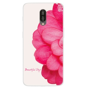 Pattern Printing TPU Protection Case for OnePlus 6T - Vivid Flower