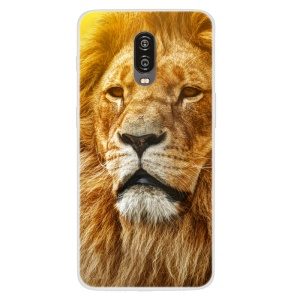 Pattern Printing TPU Case Accessory for OnePlus 6T - Brown Lion