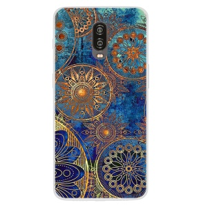Pattern Printing Soft TPU Shell Case for OnePlus 6T - Mandala Flower