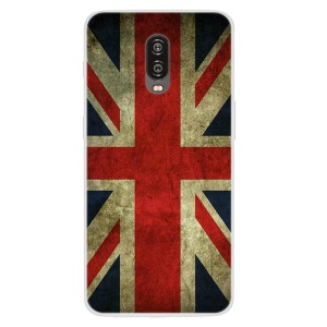 Patterned TPU Case for OnePlus 6T - Retro UK Flag