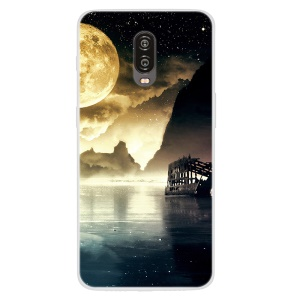 Pattern Printing TPU Back Case Cover for OnePlus 6T - Beautiful Scenery