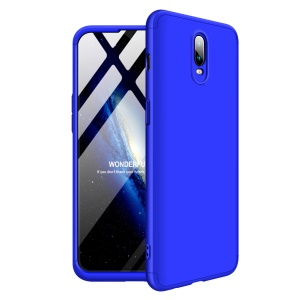 GKK for OnePlus 6T [Detachable 3-Piece] Matte Hard Case Accessory - Blue