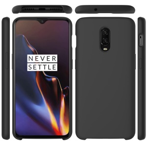 Liquid Silicone Protection Phone Case for OnePlus 6T - Black