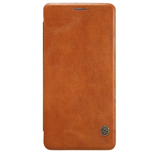 NILLKIN Qin Series for OnePlus 3 / 3T Card Holder Leather Shell - Brown